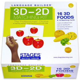 Language Builder 3D-2D Matching Kit, Foods