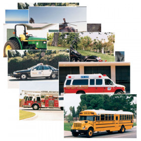 Vehicles Real Life Learning Poster Card Set, Set of 14