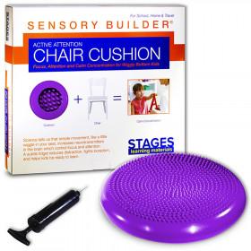Sensory Builder Active Attention Chair Cushion, Purple