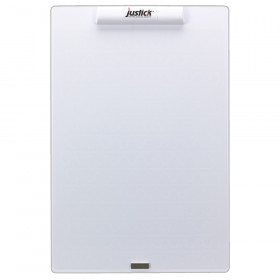 """Justick Frameless Mini Dry-Erase Board with Clear Overlay, 16"""" x 24"""""""