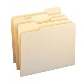 Smead Letter Size File Folders Mani Manila Box Of 100 Single Ply