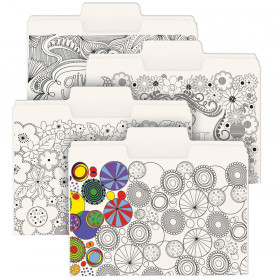 Smead SuperTab Coloring Folders Pack of 24