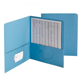 Smead 25Ct Blue Standard Two Pocket Folders