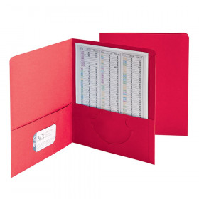Two-Pocket Heavyweight Folder, Up to 100 Sheets, Letter Size, Red, Pack of 25