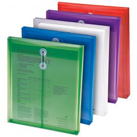 Poly Color Envelopes 5Pk Assorted Colors