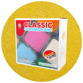 Classic Colored Sand, Yellow, 25 lb (11.3 kg) Box