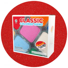 Classic Colored Sand, Red, 25 lb (11.3 kg) Box
