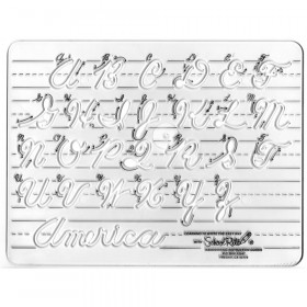 Handwriting Instruction Guide Template, Uppercase Cursive