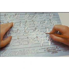Template Lowercase Transitional Manuscript Letters