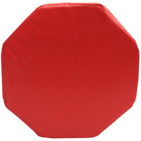 Red Octagon Pillow