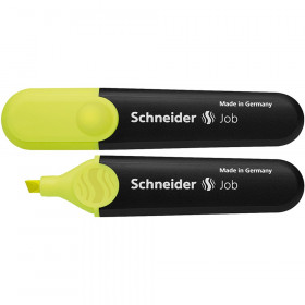 Schneider Job Highlighters, Chisel Tip, Fluorescent Yellow
