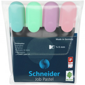 Job Highlighters, Chisel Tip, Pastel 4-Pack