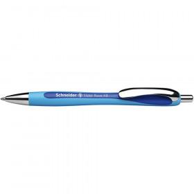 Rave Retractable Ballpoint Pen, ViscoGlide Ink, 1.4mm, Blue