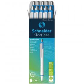 Slider Xite Environmental Retractable Ballpoint Pen, Blue, Pack of 10