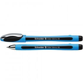 Memo Slider Ballpoint Pen, Viscoglide Ink, 1.4 mm black