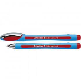 Memo Slider Ballpoint Pen, Viscoglide Ink, 1.4 mm Red