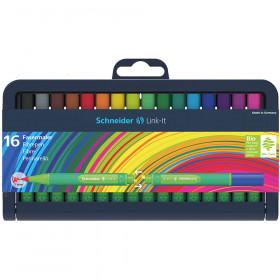 Linkit 1.0Mm Fibre Pen 16 Colors Schneider