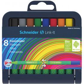 Linkit 1.0Mm Fiber Pen 8 Colors Schneider