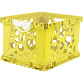 Premium File Crate with Handles, Classroom Yellow