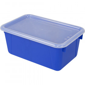 Small Cubby Bin with Cover, Classroom Blue