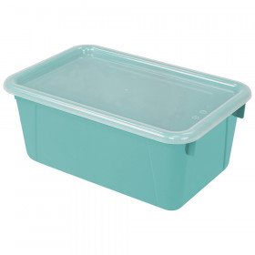 Small Cubby Bin with Cover, Classroom Teal