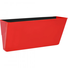Letter-Size Magnetic Wall Pocket, Red