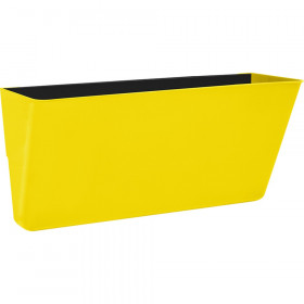 Letter-Size Magnetic Wall Pocket, Yellow