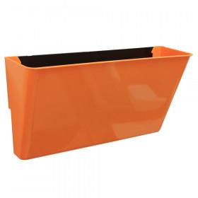 Letter-Size Magnetic Wall Pocket, Orange