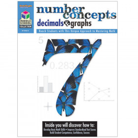 Middle School Collection: Math Reproducible Number Concepts, Decimals, & Graphs