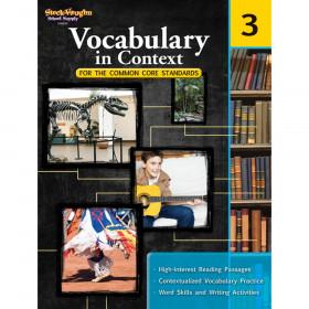 Vocabulary in Context for the Common Core Standards Reproducible, Grade 3