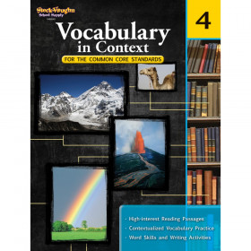 Vocabulary in Context for the Common Core Standards Reproducible, Grade 4