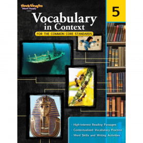 Vocabulary in Context for the Common Core Standards Reproducible, Grade 5