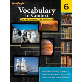 Vocabulary in Context for the Common Core Standards Reproducible, Grade 6
