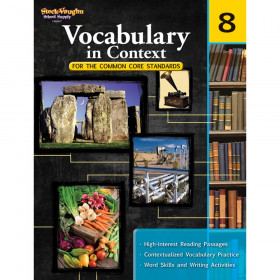 Vocabulary in Context for the Common Core Standards Reproducible, Grade 8