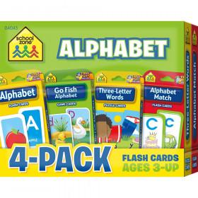 Alphabet Flash Card, 4-Pack