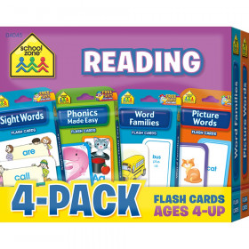 Reading Flash Card, 4-Pack