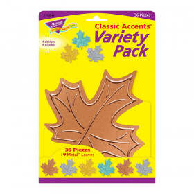 I  Metal Leaves Classic Accents Var. Pack, 36 ct
