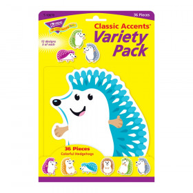 Colorful Hedgehogs Classic Accents Var. Pack, 36 ct