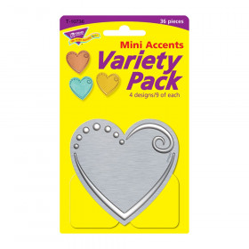 I  Metal Hearts Mini Accents Variety Pack, 36 ct