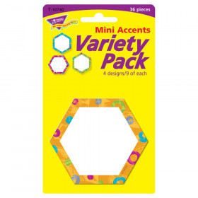 Color Harmony Hexa-swirls Mini Accents Variety Pack, 36 ct
