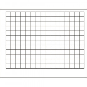 "Graphing Grid (1 1/2"" Squares) Wipe-Off Chart, 22"" x 28"""