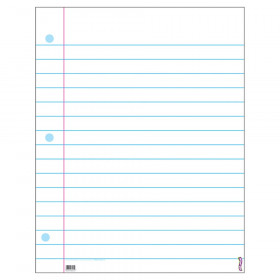"Notebook Paper Wipe-Off Chart, 22"" x 28"""