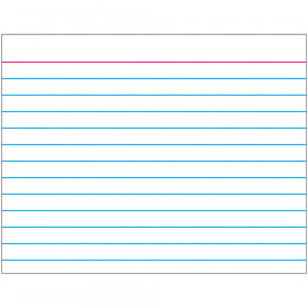Index Card (white) Wipe-Off® Chart