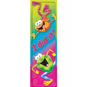 I Did It Frog-Tastic Bookmarks