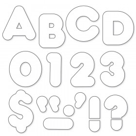 "White 4"" Casual Uppercase Ready Letters"