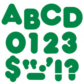 Kelly Green 4-Inch Casual Uppercase Ready Letters®