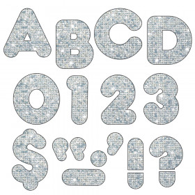 Silver Sparkle 4-Inch Casual Uppercase Ready Letters®