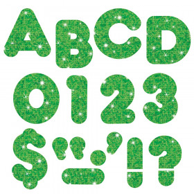 "Green Sparkle 4"" Casual UC Ready Letters"