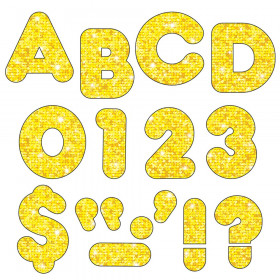 Yellow Sparkle 4-Inch Casual Uppercase Ready Letters®