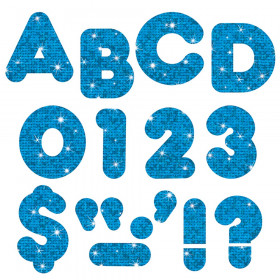 """Blue Sparkle 4"""" Casual UC Ready Letters"""